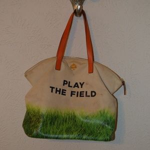 RARE Kate Spade Play the Field Canvas Tote